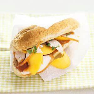 Recept - Pistolet gerookte kip & mango - Allerhande