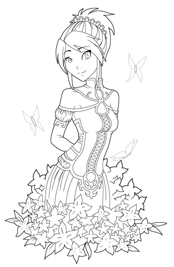 Free Printables: Anime Style Characters Coloring Pages ...
