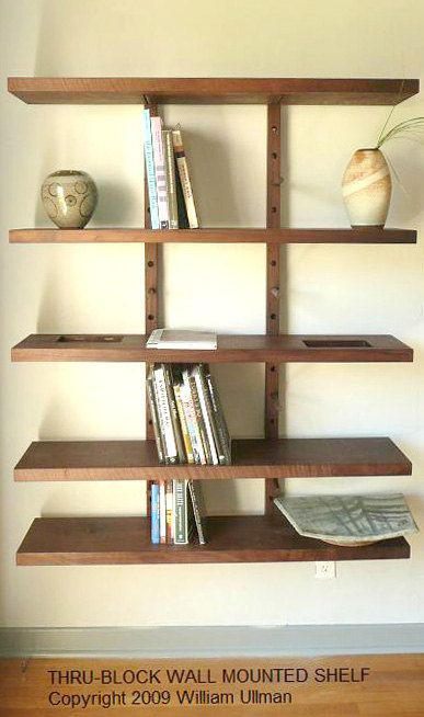 Thru Block Wall Mounted Modular Shelving System Large 4 Foot Wide 3 000 00 Via Etsy Floating Shelves
