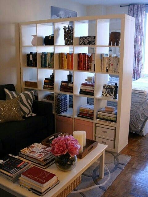 Room divider and expedit all in one organizing pinterest room dividers all in one and - Small space room divider ideas collection ...