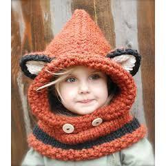 CAGOULE oreille ourson taille 9 a 18 mois rouille - laines-didine.com