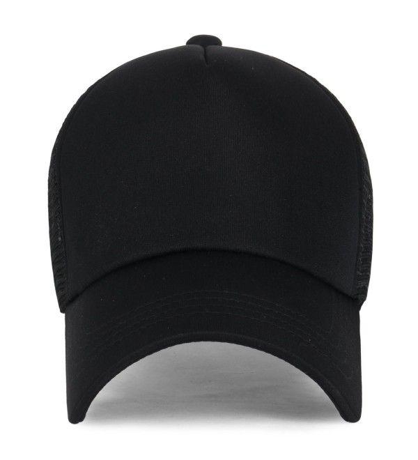 Plain Baseball Cap Simple Mesh Snapback Color Trucker Hat All Black Cu12ju4pdhd Plain Baseball Caps Baseball Cap Hats For Men