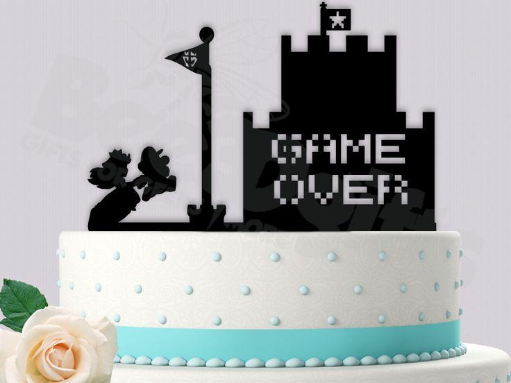 Super Mario And Princess Peach Flag Castle Super Mario Brothers Inspired Event Wedding Cake