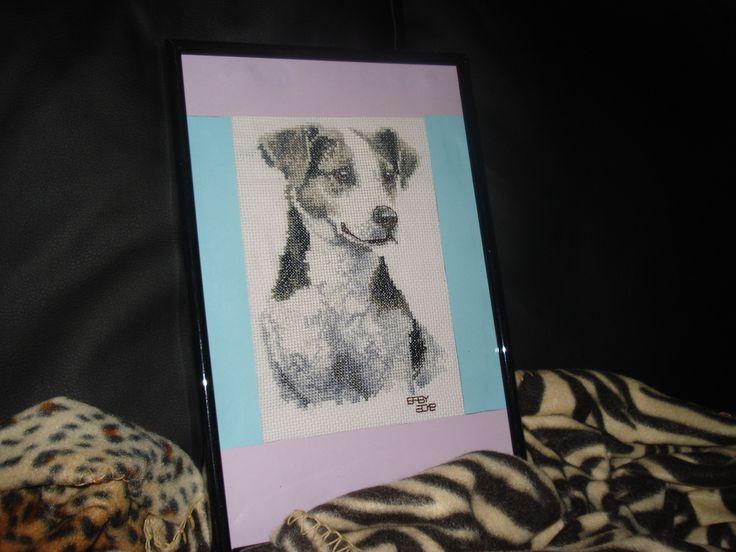 Questo e il ritratto del cagnolino di mia cognata! É stato un regalo per il suo compleanno di due anni fa<3