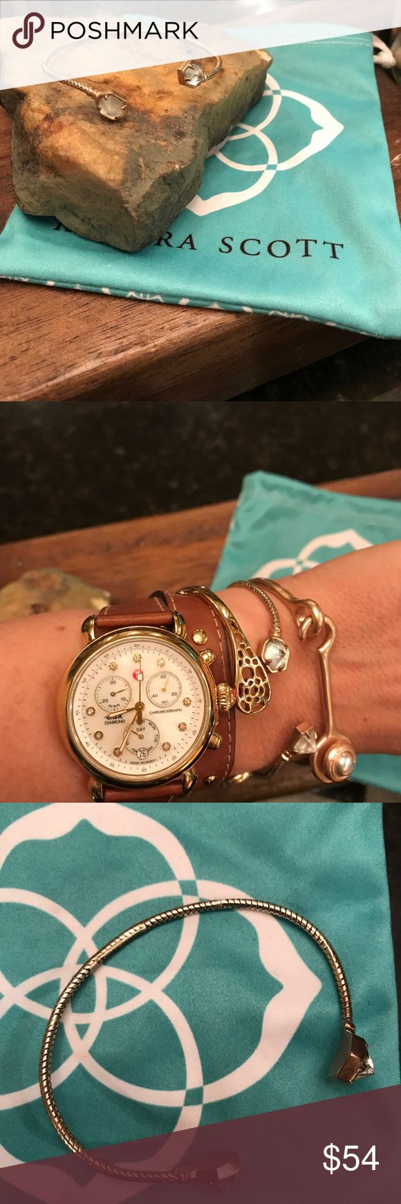 Kendra Scott Pinch Cuff Bracelet. Rose Gold. Adorable. Comes with baggie. Kendra Scott Jewelry Bracelets