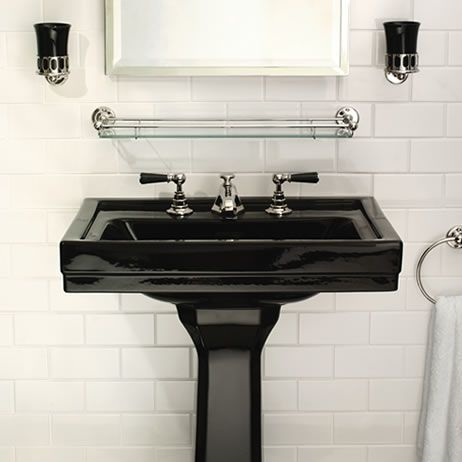 Lefroy Brooks, Black range of bathroom fittings.