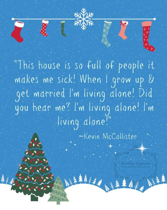 Home Alone quote. 8x10 printable poster by BreakfastEpiphanies, $5.00