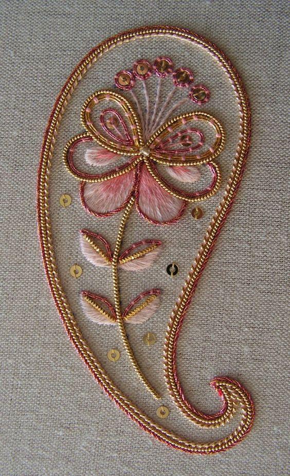 Kit de bordado decorativo de orfebrería de Paisley