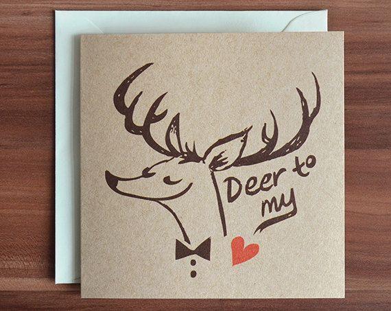 Animal Pun Card Woodland Creature Deer Print by Kacey Schwartz at http://mudsplashstudios.com