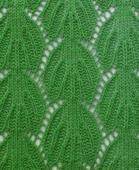Free Lace Leaf Knitting Stitches