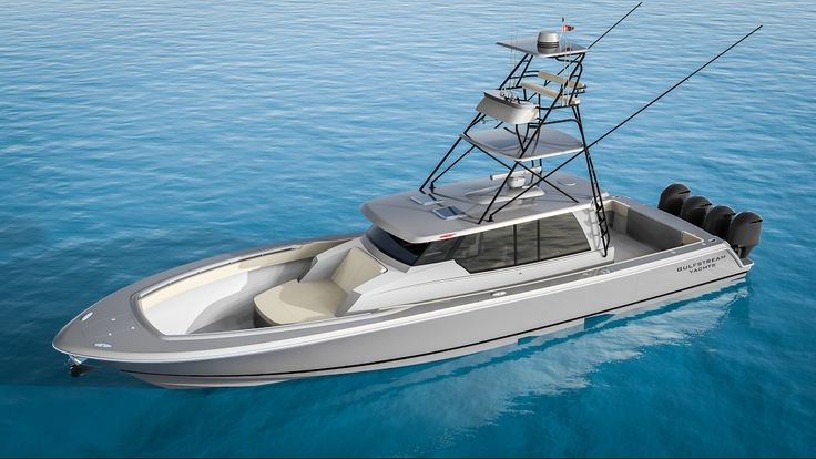 Gulfstream Yachts 52 air-conditioned center console fishing boat.