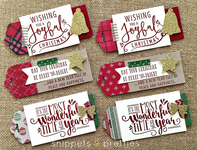 Some simple tags for you during this this busy time of year! Nothing tricky about these, you just need a little DSP, glitter paper and was...