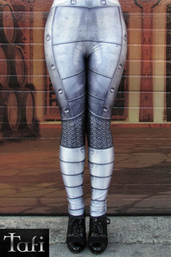 TAFI Plate-Mail Armor Printed Leggings  Limited Edition Exclusive Custom Costume Design - Now in Womens 3XL/Mens XL   DESIGN : As Ive mentioned, I