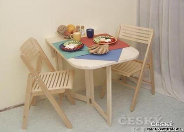 Складной столик своими руками для маленькой кухни (18) (630x450, 87Kb)