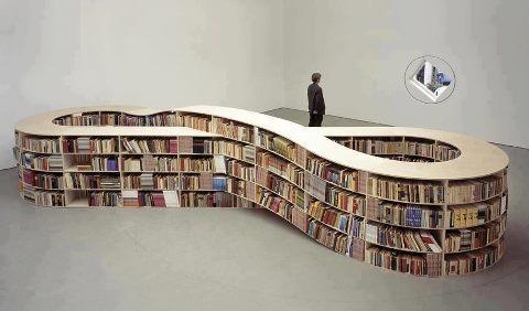 "Job Koelewijn, ""Infinity Bookcase"" (2008)."