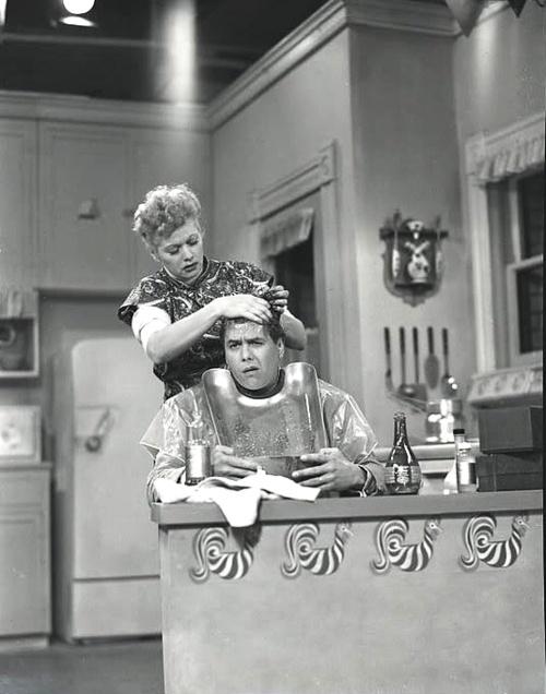 Lucille Ball Desi Arnaz  Ricky Thinks He's Going Bald.... I love Lucy