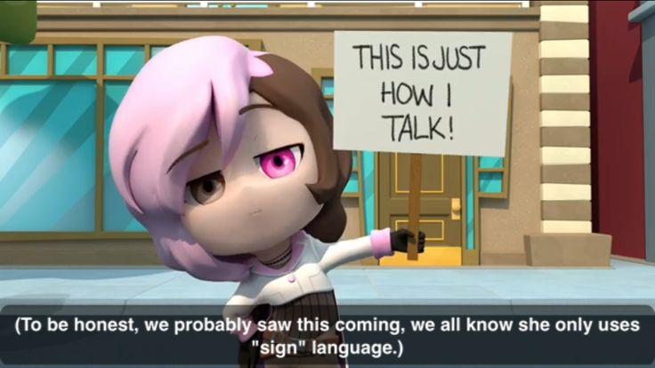 "Get it ""Sign"" language, HA!"