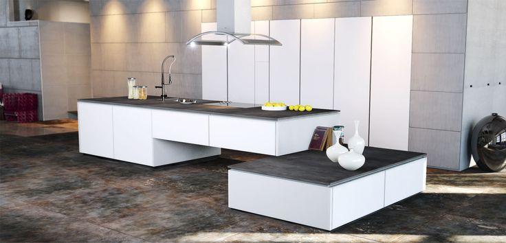 Cuisine moderne couleur blanc cuisines charles rema mod le w melissa cuisines avec lot for Modele cuisine integree