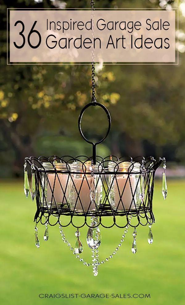 36 Inspiring Examples Of Repurposed Junk Garden Art Garden Art Garden Junk Garden Angels