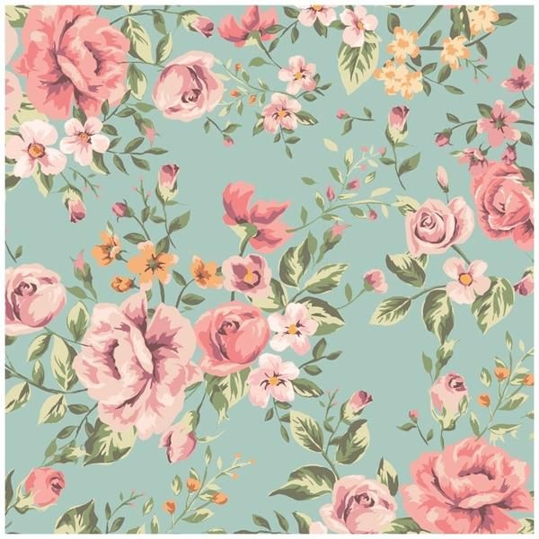 Romantic, Fun, Cute Floral Pattern Traditional Paste And