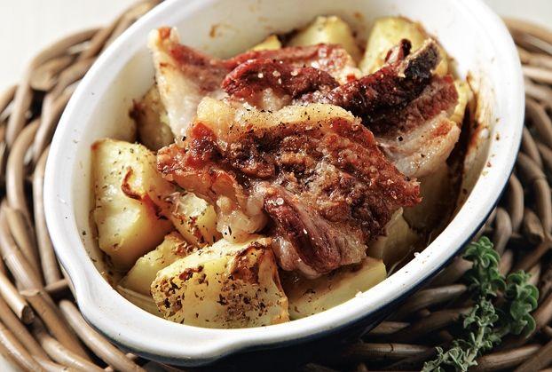 Χοιρινή πανσέτα στο φούρνο με πατάτες