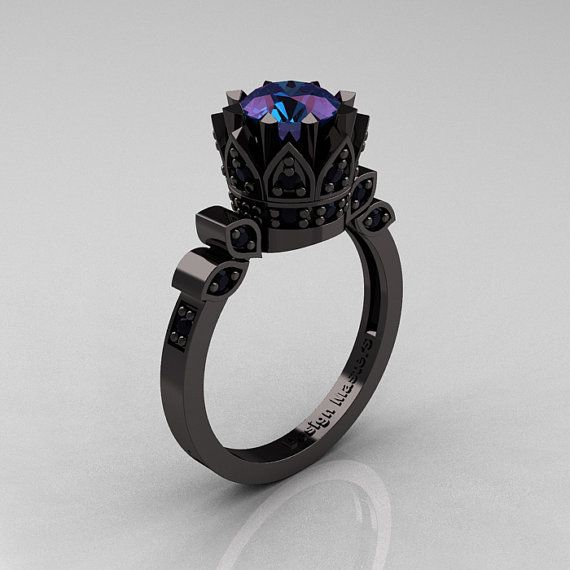 Exclusive Classic Armenian 14K Black Gold 2.0 by artmasters, $3299.00