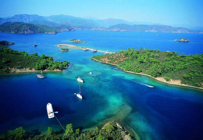 L'île de Cleopatre à Marmaris en Turquie à découvrir lors de la #croisière Terre Sainte avec Croisières de France en Tout Inclus.
