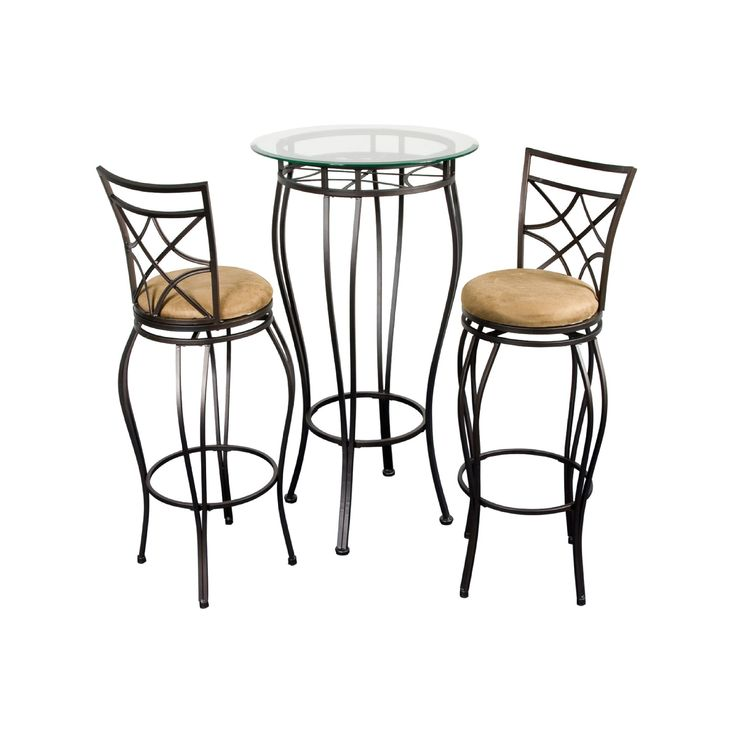 Bistro 3-pc. Pub Table and Chair Set, Brown