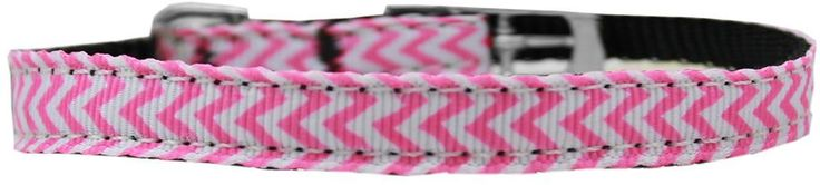 "Chevrons Nylon 3/4"" Dog Collar with Classic Buckle"