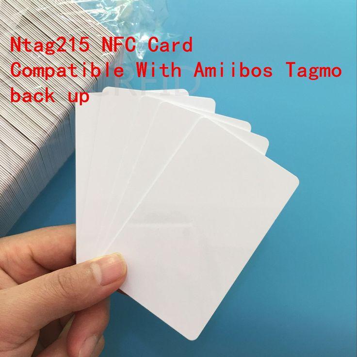 NFC Forum Тип 2 RFID Ntag215 Белый ПВХ БЕСКОНТАКТНОЙ Карты совместимость с Amiibos Резервное копирование и Все NFC Телефон Устройство 10 Шт./упак.