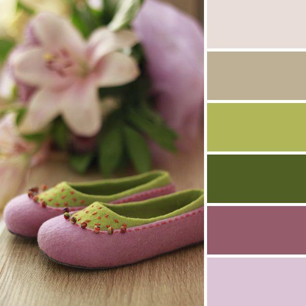 Весне дорогу: 15 вдохновляющих цветовых палитр от мастеров портала - валяные тапочки ♡