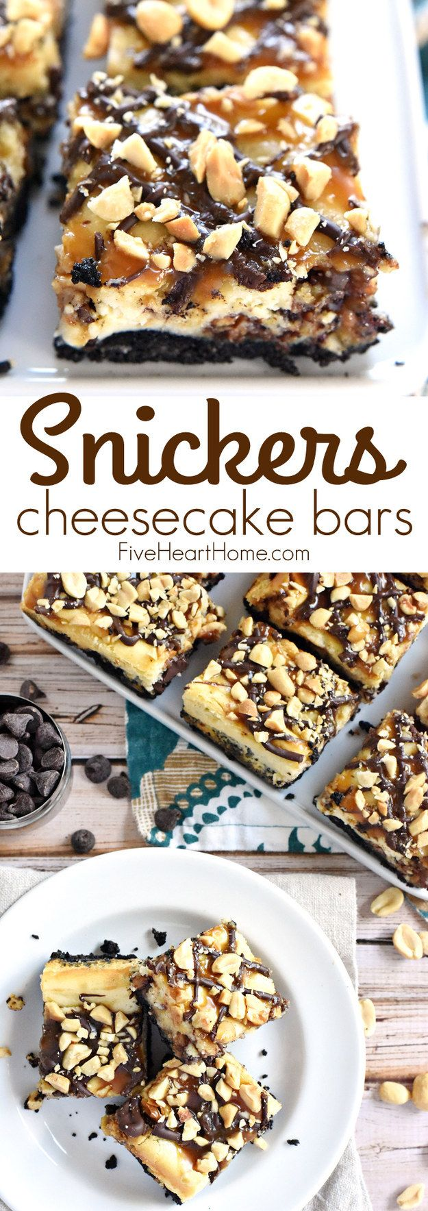 Snickers Cheesecake Bars | 24 Crunchy Desserts You Need In Your Life