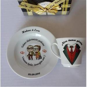 Damat Kahve Fincanı (Yaşlı Çift Modeli)