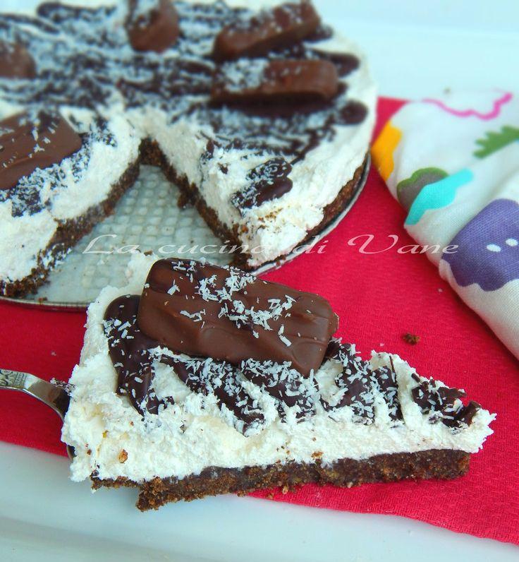 Torta fredda bounty ricetta dolce senza cottura