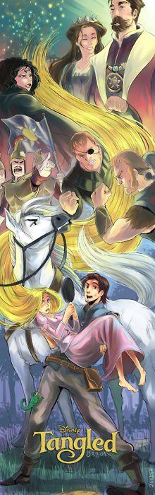 Tangled Anime PosterAnimal Posters, Fan Art, Tangled Art, Disney Animal, Disney Tangled Animal, Disney Pixar, Favorite Artworks, Fans Art, Fanart