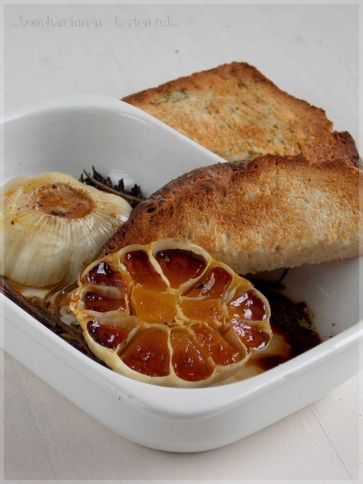 ...konyhán innen - kerten túl...: Mézes-fűszeres sült fokhagyma