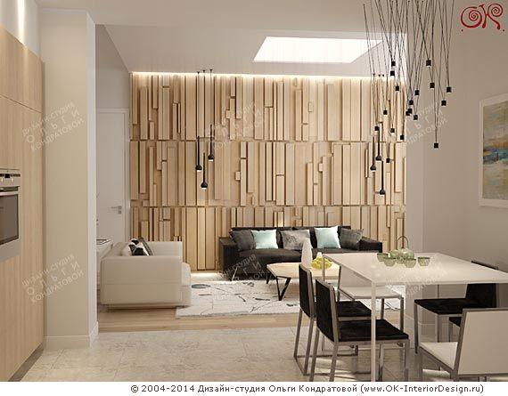 Вид из кухни на гостиную в квартире  http://www.ok-interiordesign.ru/blog/dizayn-kvartiry-s-eco-motivami.html