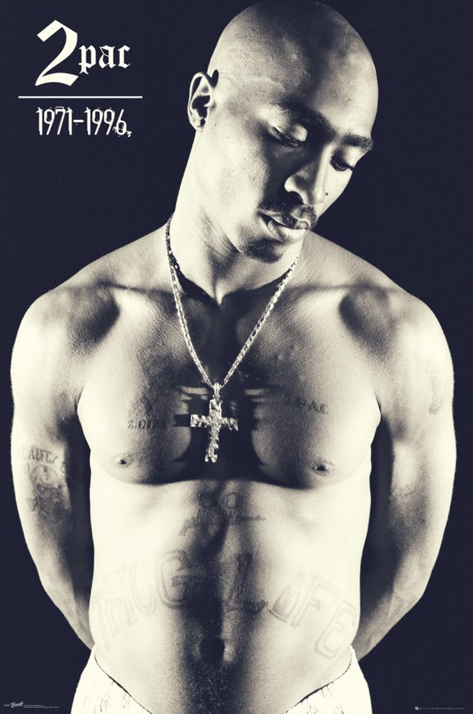 Tupac Shakur 2Pac Cross - Official Poster