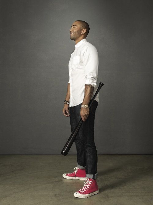 Matt Kemp in Red Chucks