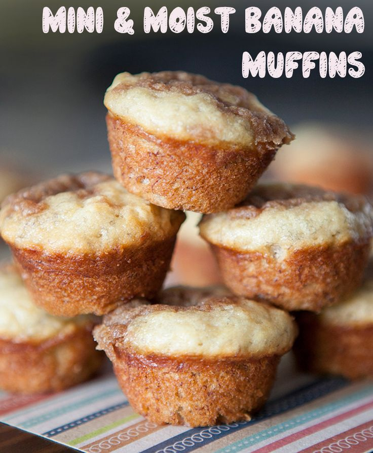 Brooklyn Farm Girl: Mini and Moist Banana Muffins, some of the most delicious banana muffins you'll ever try! Great for single servings too!
