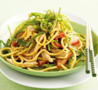 Asian noodle salad with barbecued pork   Australian Healthy Food Guide