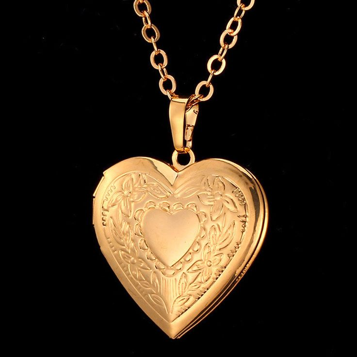 necklace original gold locket heart lockets vintage