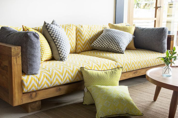 Decorative cushions and Amapura Sofa will cheer your home :)