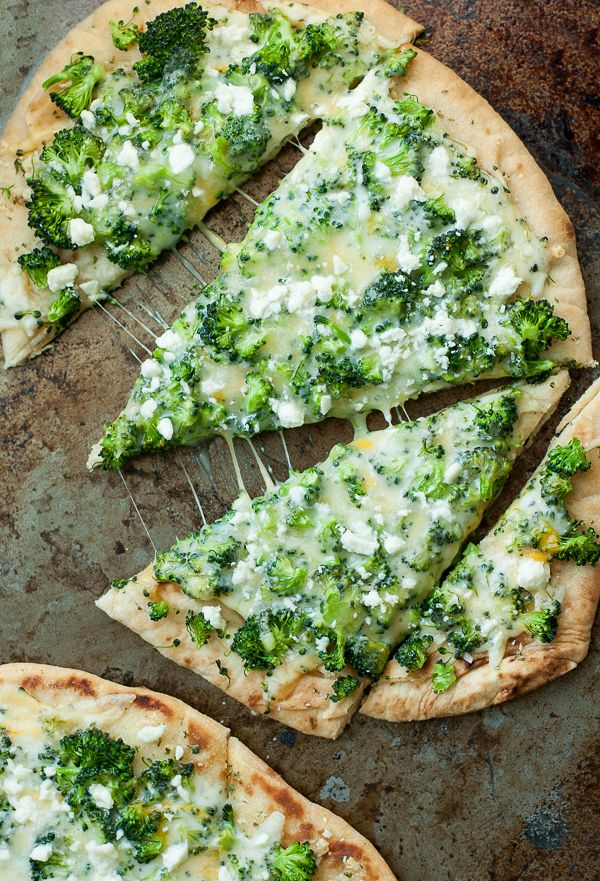 You'll flip over this quick, easy, and delicious Broccoli and Cheddar Four-Cheese Pizza! Use your favorite crust recipe or grab some fluffy naan flatbread..