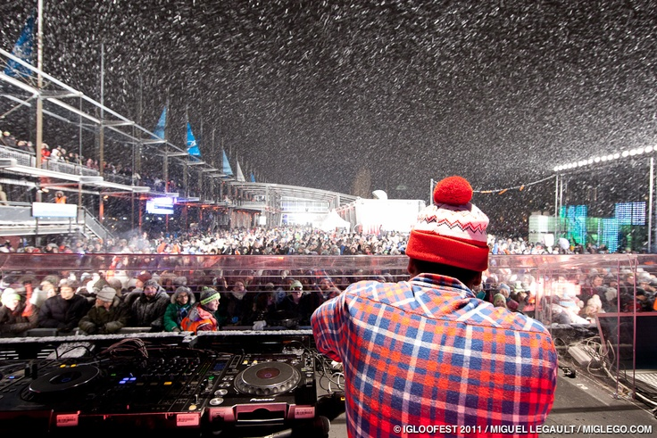 It's Winter? Let's Party!    Montreal Igloo Fest - Massive Electronica Show Outside in the Dead of Winter