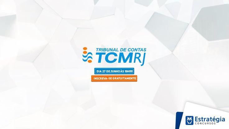Aulão para o concurso TCM-RJ   Ao Vivo