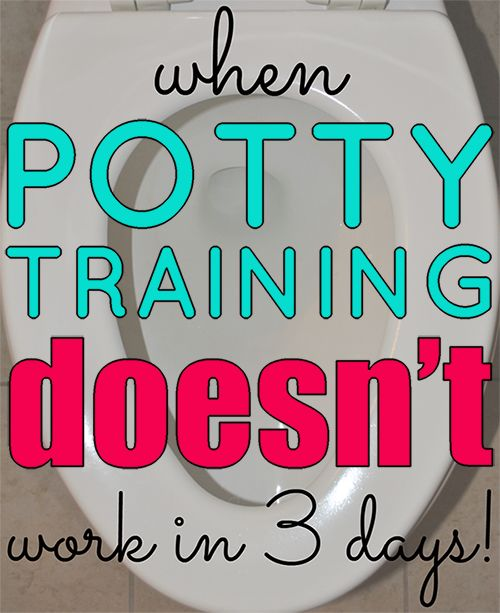 When Potty Training Doesn't Work in 3 Days | Houston Moms Blog