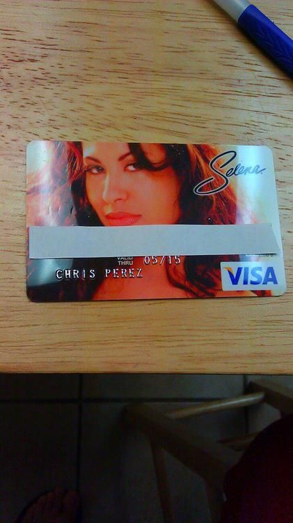 Chris Perez's Selena Visa Card