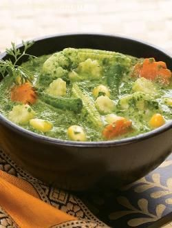 Vegetables In Spinach Gravy ( Popular Restaurant Gravies ) recipe | Indian Restaurant Gravies, Indian Gravies | by Tarla Dalal | Tarladalal.com | #33533
