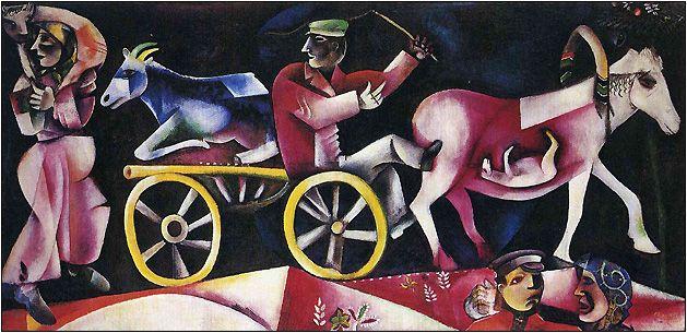 Марк Шагал в Цюрихе - Журнал Вовы Поморцева Продавец  скота. Выставка в Цюрихе посвящена важнейшему периоду в творчестве Марка Шагала. На десятилетие с 1910-го по 1922 год пришелся его первый приезд в Париж, первая успешная выставка в Берлине, и одновременно — мировая война, революция и окончательная эмиграция из России. Именно в эти годы сформировался неповторимый визуальный язык художника,